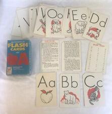 Milton Bradley Flash Card Set ABC Alphabet Vintage 1963 Kindergarten - 2nd