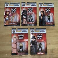 WWE Nano Metalfigs Lot of 5 Minifigures Jada Toys 2017 Lesnar, Balor & More