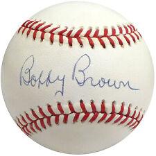 Bobby Brown Autographed Signed AL Baseball Yankees, AL President Beckett S75351