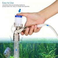 Fish Tank Air-pressing Vacuum Pump Aquarium Water Change Gravel Cleaner E6M8