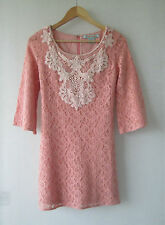 Womens Flying Tomato sz 8 Peach Lace Dress