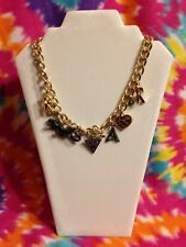 NEW KATY PERRY ROAR CHARM NECKLACE TIGER CHUNKY GOLD CHAIN HEART PRISM JEWELRY
