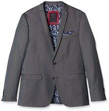 New Tom Tailor Deluxe Sakko 3922579 Blazer Suit Jacket Grey Sz- 90 RRP-£120.00