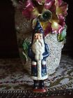 Vintage Inspired Christmas Tree Ornament Belsnickle Santa Claus in Blue Coat