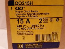 Square D Qo215H Circuit Breaker 2 Pole 15A 240V