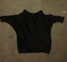 Sparlly cut-out shoulder top Express size L