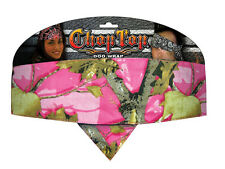 Pink Camo Camouflage Chop Top Biker Bandanna Headwrap Sweatband Cotton Headband