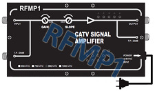 High-Gain RF Coax Signal Amplifier With 32dB Boost For CATV Satellite DVR
