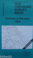 Old Ordnance Survey Map Norham Berwick upon Tweed Ancroft  Area 1864 New
