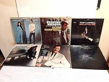 #133 Lot 6 LPs+Glen Campbell, Bobbie Gentry+Slim Whitman VG to Excellent vinyl