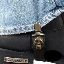 Attaches Biker clips pantalon Tête de mort Skull boots moto Custom trike BUA1020