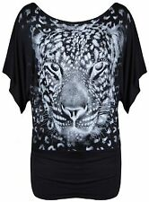 Animal Print Plus Size Casual Tops & Shirts for Women