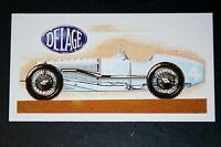 DELAGE Supercharged Racing Car       Illustrated Card  # CAT A