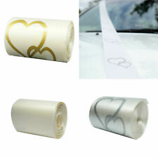 Wedding Car Ribbon White Silver Heart Ivory Decorations Supplies Accessories