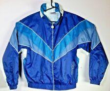 Vtg Wilson Advantage Windbreaker Jacket sz L Large Multi Color Block SPELL OUT
