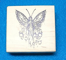 VIP Visual Image printery Fairy rubber stamp fae farie fearie Fantasy lady wings