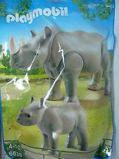 U8) PLAYMOBIL Ippopotamo con Cucciolo Famiglia Set 6638 City Life Serie Zoo