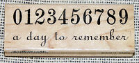 7 Gypsies Rubber Stamp Numbers 0-9 A Day to Remember Date Wedding Birth