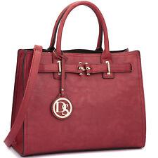 New Womens Handbags Faux Leather Satchel Tote Bags Shoulder Bag Medium Purse