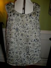 Coldwater Creek Gray Tank Top with Sheer Design Overlay Size 2X Woman's Plus