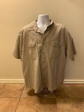 RedHead Ripstop Shirt Men Size 2XL Beige Short Sleeve Outdoor Clothing