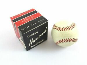 Vintage Harwood 1X Official League Baseball c1950s/60s NOS w/Box