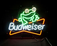 Frog Beer Bar Bistro Pub Neon Sign Light Bvd Artwork Poster Bistro Man Cave