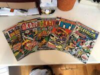 Astonishing Tales Lot of 5 (#1, 17, 18, 22, 32) DEATHLOK AND KA-ZAR F/VF 7.0