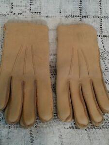 Vintage LL Bean Men's Gloves  Deer Skin Sta-Soft Leather Sz M.  MEDIUM