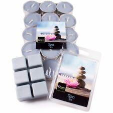 FRESH SPA Scented Tea Lights/Wax Melt Oil Burner Tart Cube Tealight Blue Candle