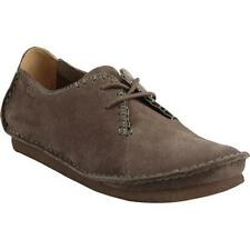 EUC CLARKS ORIGINALS Faraway Fields Taupe Suede Leather Flats Shoes Women's 6.5