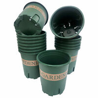 12 Pcs 1/2 Gallon Green Printed Plastic Pots with root control design for Garden
