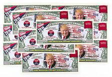 10 Donald Trump USA fantasy paper money currency one million Trump Dollars 2016