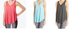 Calvin Klein Performance Women's Yoga V-Neck Relaxed Active Icy Wash Tank Top