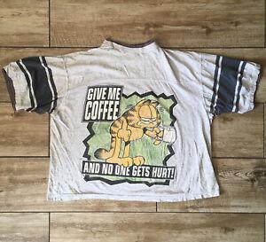 Garfield Men's Vintage 1978 Single Stitch Give Me Coffee T Shirt Grunge