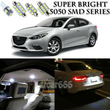 For Mazda 3 2010-2016 Xenon White LED Interior kit + License Plate Light 8Pieces