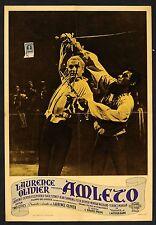 FOTOBUSTA, AMLETO Hamlet LAURENCE OLIVIER, JEAN SIMMONS, SHAKESPEARE POSTER 1948