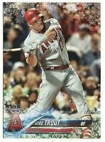 2018 Topps Mike Trout Holiday Snowflake Card Rare SSP 🔥
