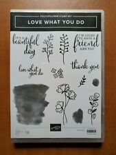 Retired Stampin' Up! Love What You Do photopolymer stamp set of 13