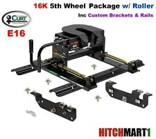 E16  5TH WHEEL TRAILER HITCH w ROLLER PACKAGE 2011-2016 FORD F250SD  F350 PICKUP