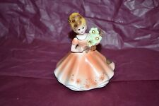 "Porcelain figurine November ""Topaz"" Originals by Josef -Birthstone with label"