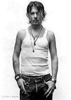 JOHNNY DEPP ~ SEXY TANK TOP 24x36 POSTER Celebrity Pirates Caribbean Movie