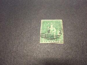 Barbados stamp 1 used