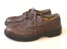 WOLVERINE Men's Brown Leather Steel Toe Oxford Shoes Non Slip Work US 8 M EUR 41