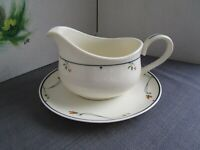 GORHAM Ariana Town and Country Fine China Collection Gravy boat & Under plate