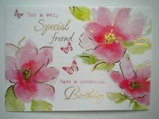 """FOR A VERY SPECIAL FRIEND...""  BIRTHDAY GREETING CARD + DESIGNER ENVELOPE"