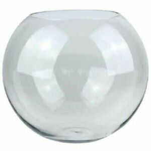 Clear Glass Fish Bowl Vase Table Centrepiece Bubble Ball For Home Or Wedding