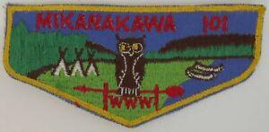 OA Mikanakawa Lodge 101 F4 Flap YEL Bdr. Circle Ten, Texas [TK-461]