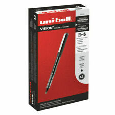 12 Uni Ball Vision Rollerball Pens Micro Point 05mm Black 60106 New