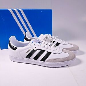 Size 5.5Y / Size 7 Women's adidas Originals Samba OG Sneakers BB6976 White/Black